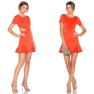 Lovers + Friends Eternal Cut Out Ruffle Hem Dress
